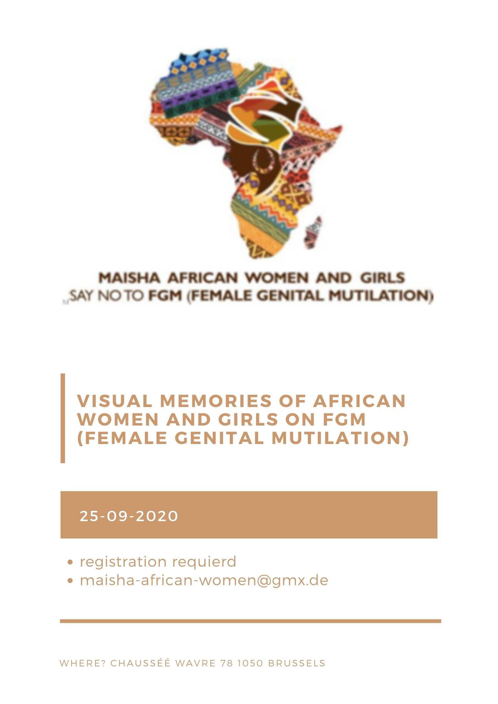 EXHIBITION INVITATION ON VISUAL MEMORIES OF AFRICAN WOMEN AND GIRLS ON FGM (FEMALE GENITAL MUTILATION)